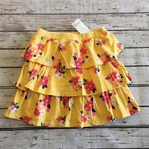 Gymboree Yellow Floral Skort